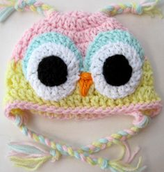Baby Crochet Owl Ear Flap Hat