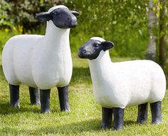 Bring some farmyard fun to your garden with these charming sheep garden statues. Beautifully crafted in black and white, visitors may have to look twice to realise Company Gifts, Farm Yard, Garden Statues, Garden Ornaments, Sheep, Black And White, The Originals, Unique, Fun