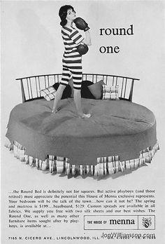 vintage round bed ad