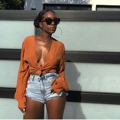 P ➫ @qveendaiisy  black girl magic festival outfit, summer outfit