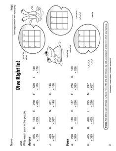 Math Worksheet: addition with regrouping Math Worksheets, Math Activities, Go Math, Math Manipulatives, Math Journals, Math Stations, 2nd Grade Math, Addition And Subtraction, Home Schooling
