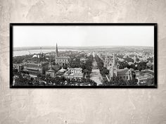 Madison Wisconsin year 1900. Madison WI panorama from