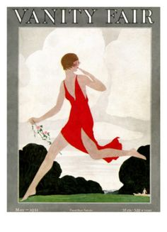 Vanity Fair cover, May 1921 ~ Art by Andre Edouard Marty.