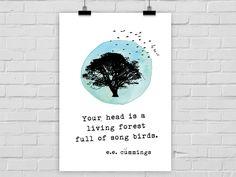 Kunstdruck SONG BIRDS von Prints Eisenherz auf DaWanda.com