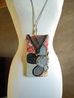 MINI CASE POUCH Upcycled & Shabby Chic by WhimsyEyeDesigns on Etsy, $20.00