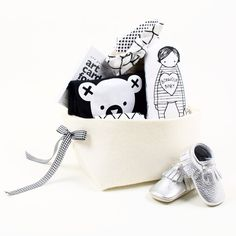 Trendy Baby Girl Gift Basket - Cool Baby Bear – Bonjour Baby Baskets - Luxury Baby Gifts