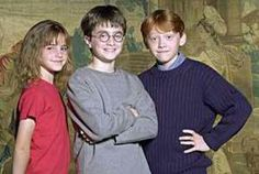 Emma Watson, Daniel Radcliffe, Rupert Grint 2001