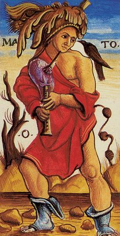 0. The Fool (Mato) - Sola-Busca Tarot