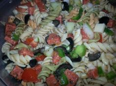 Colorful Party Pasta Salad Recipe | Just A Pinch Recipes