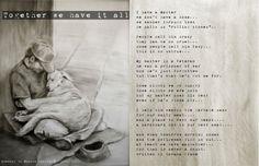 drawing by Monika Paruzel and poem by Savana Frame