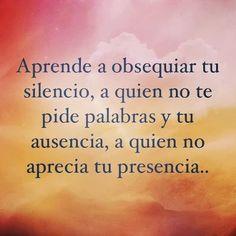 el silencio #frases