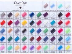 Look at all those colors!  Decisions, decisions... Braces Bands, Braces Tips, Braces Food, Dental Braces, Kids Braces, Braces Smile, Teeth Braces, Braces Problems, Braces Retainer