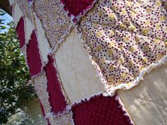 California King Size Rag Quilt & Set of 2 by KristinsCountryHome