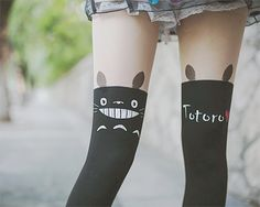 got them, and yea they are super cute but the print breaks way to fast! and i got skinny legs... http://www.asianicandy.com/products/totoro-fake-high-thigh-stocking