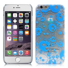 Head Case Designs Clear Blue Jazzy Skull Case for Apple iPhone 6