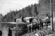 Finnish Junkers W 34 or K One and six were used to resupply long range recon patrols operating behind Soviet lines, and to evacuate sick and wounded patrol soldiers Finnish Air Force, Border Guard, Ww2 Aircraft, Warfare, Troops, Finland, World War, Aviation, 1950