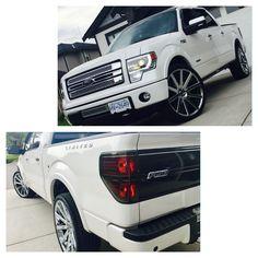 2014 Ford F-150 limited edition. 26 inch shot colla DUB rims. Ford F150 Custom, Ford F150 Fx4, 2014 Ford F150, Silverado Nation, Chevrolet Silverado, Cool Trucks, Big Trucks, 26 Inch Rims, F150 Platinum