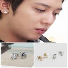 [CNBLUE Style] Bling Cubic Earring(Yong-hwa)  Price: $6.00 on Kstargoods.com (The best kpop shop)