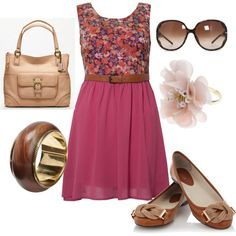 Minus the bag and bangle....maybe add a cute navy cardigan and it be a little bit longer....???