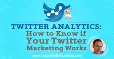 [PODCAST] Twitter Analytics: How to Know if Your Twitter Marketing Works—In this episode Ian Cleary explores how you can… http://itz-my.com