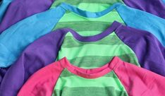 Free pattern: Kids long sleeve raglan sleeve t-shirt