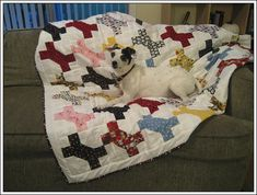 Barkley's Dog Bone Quilt by seweccentric, via Flickr