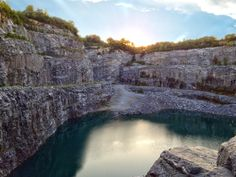 7 Places in Georgia You Have to Visit Bellwood Quarry You may remember this place from a scene in Walking Dead seen below. But this quarry can carry up to 1.9 million gallons of water and it's right in Atlanta for your eyes to see.