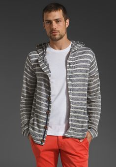 Cohesive & co. Twilight Hooded Jacket in Blue/White Stripe...not the pants. obviously