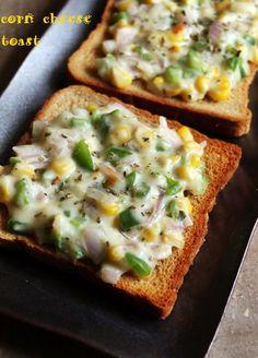 cheese toast recipe with corn, corn cheese toast
