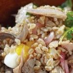 Farro, also known as emmer wheat, is one of the oldest cultivated grains, dating all the way back to biblical times. I love its nutty flavor with our Preserved Tuna. Look for unprocessed whole grain farro with bran and germ intact. It is loaded with fiber which can help lower cholesterol levels in the blood as well as keep things moving to promote healthy digestion. Farro has a higher level of protein than most other grains. If it was good enough for Moses, it's good enough for me! on ...