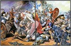 Batalla de Cutanda en el 1120,victoria de Alfonso I rey de Aragón contra los almoravides,más de 15.000 muertos entre los almoravides por unos 5.000 cristianos en la toma de Zaragoza por la cristiandad