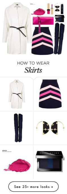 """""""MSGM skirt"""" by thestyleartisan on Polyvore featuring Urban Decay, Topshop, MSGM, Christian Louboutin, Yves Saint Laurent, Aurélie Bidermann, Bobbi Brown Cosmetics and suedeboots"""