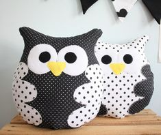 Billedresultat for manualidades cojines paso paso Owl Sewing, Sewing Toys, Sewing Crafts, Sewing Projects, Owl Pillow, Baby Pillows, Sewing Stuffed Animals, Stuffed Animal Patterns, Fabric Toys