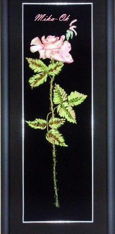 Ricamo con nastro di seta e perline. www.mika-ok.gallery.ru