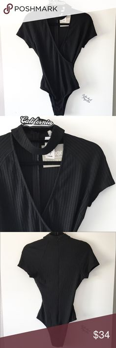 BNWT black ribbed vneck chocker bodysuit Brand: Rumor boutique (LF) With snap buttons at crotch    Rating  Shop with confidence   Ship same day or next day  Free Brandy stickers with purchase   Bundle and save ️️ Accepted  ✅ Accepted  ⛔️ Trades ⛔️ Lowball offers LF Intimates & Sleepwear