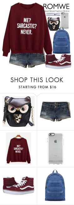 """""""Без названия #92"""" by erohina-d ❤ liked on Polyvore featuring Hollister Co., Vans and NIKE"""