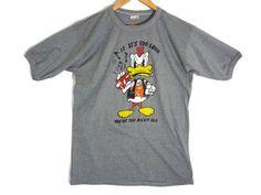 Vintage 80s Punk Duck Ringer Tee - Large - Grey - Heavy Metal - Punk Rock - Loud Music - Musician Shirt - Band Tee - Rock Shirt - by BLACKMAGIKA on Etsy