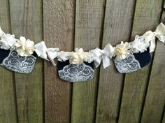A personal favourite from my Etsy shop https://www.etsy.com/uk/listing/267078925/boho-denimlace-garland-cream-floral