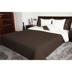 Obojstranné prehozy na posteľ čokoládovej farby