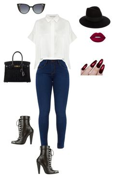 """""""Untitled #154"""" by sb187 ❤ liked on Polyvore featuring Yves Saint Laurent, Lime Crime, Hermès and Fendi"""