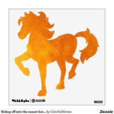 Riding off into the sunset horse wall decal