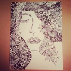 Muse #4 - ink by June Foret