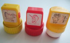 80's character stamps. I used to have some of these - they never seemed to last very long. Maybe it's because I stamped everything.