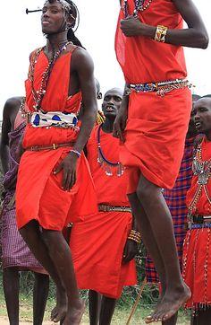 Africa | Maasai Tribal Jumping Dance © Jill Fisher