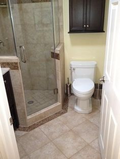 Perfect remodel for a small home full bathroom.