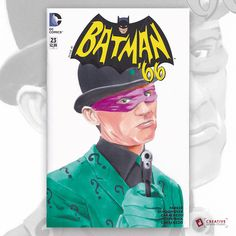 Batman 66 Sketch Cover featuring the Riddler
