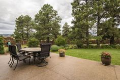 How do you describe a perfect patio?  NorthernArizonaFineHomes.com #realestate #flagstaff #Flagstaff #Paradise #Golf