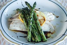 Tilapia and Asparagus - you had me at Balsamic Reduction