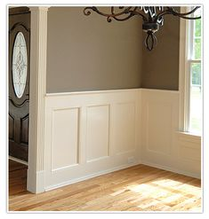You know what always looks classy? Wainscoting. Look at any picture of a classy old house and 4 out of 5, it's gonna have it.