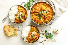 Warming and easy to make this vibrant Cauliflower and Chickpea Curry is packed with flavour. Perfect for a tasty weeknight dinner. Vegetarian Curry, Veggie Dishes, Veggie Recipes, Vegetarian Recipes, Free Recipes, Cauliflower And Chickpea Curry, Clean Eating Recipes, Cooking Recipes